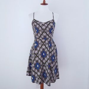 OLD NAVY Dress Brown colorful Pattern Sundress